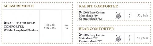 6758 DMC Rabbit & Teddy Cuddle Toy