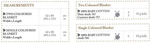 6757 DMC Easy baby blanket 0 to 3 years Cover Measurements