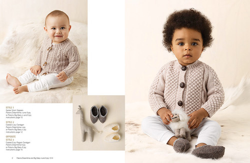 1315 Natural Baby 11 designs in 4 & 8ply for 0 to 18 months