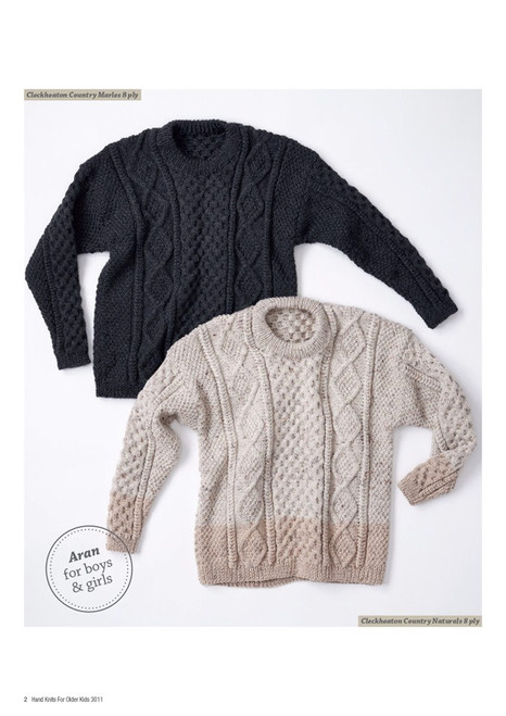 Hand Knits for Older Kids 4 designs in 8ply age 8 to 14