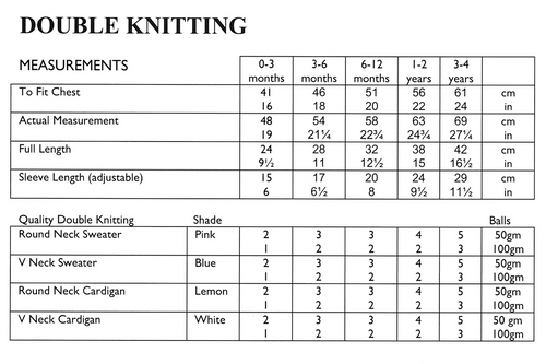 """UKHKA34 Jumpers & Cardigans 16"""" to 24"""" in 8ply round & V-neck moss stitch & cable detail"""