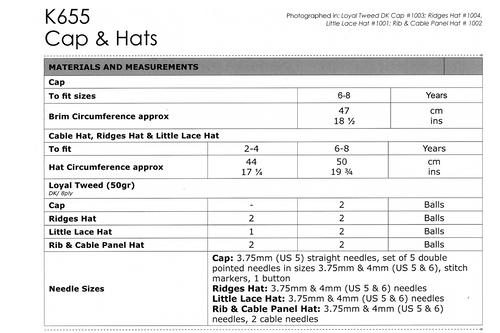 K655 Loyal 8ply Hats 2-8 years