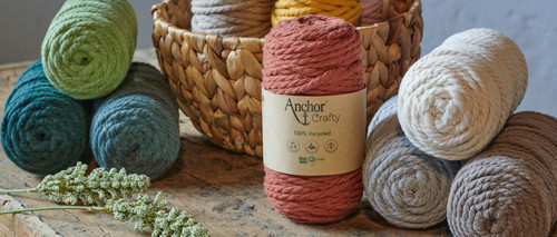 Anchor Crafty Macrame Rope 40m/250gm 80%Cotton/20%Poly