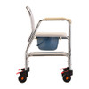 Rolling Shower Chair and Commode profile view