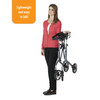 Let's Move Rollator  is compact when folded