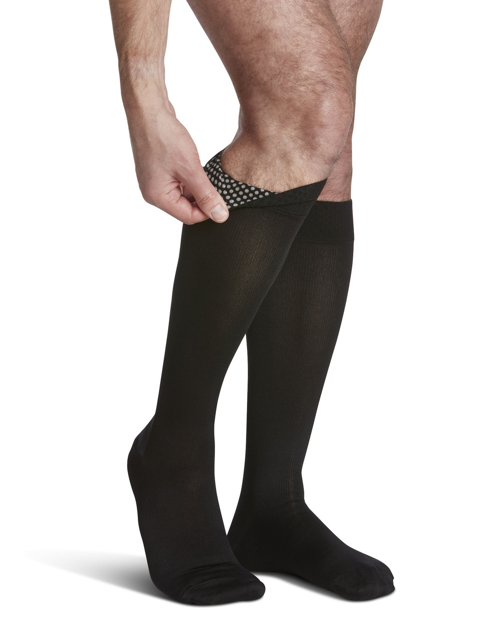 Microfiber Calf Compression Socks Elastic Support