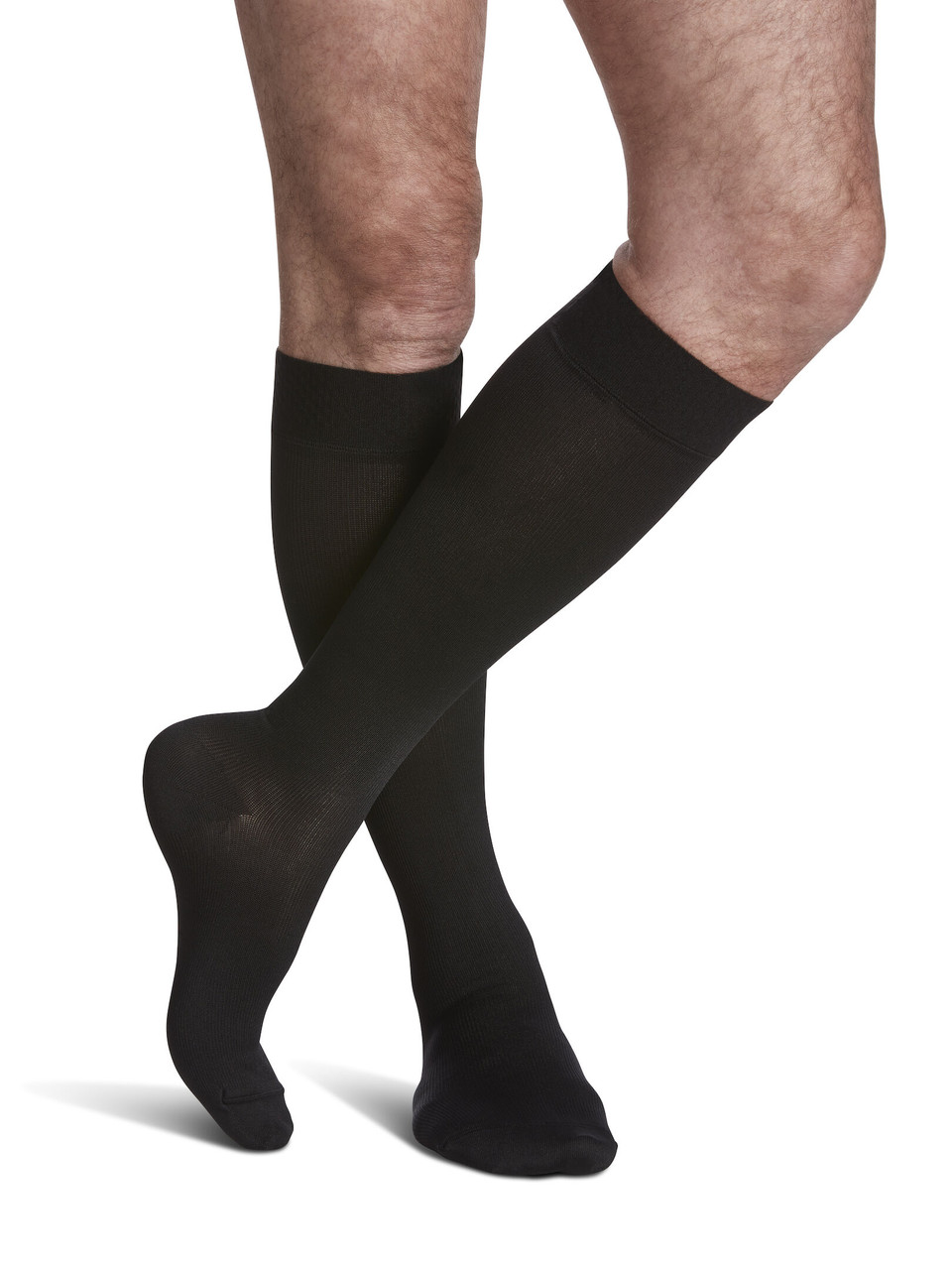 Microfiber Calf Compression Socks Black