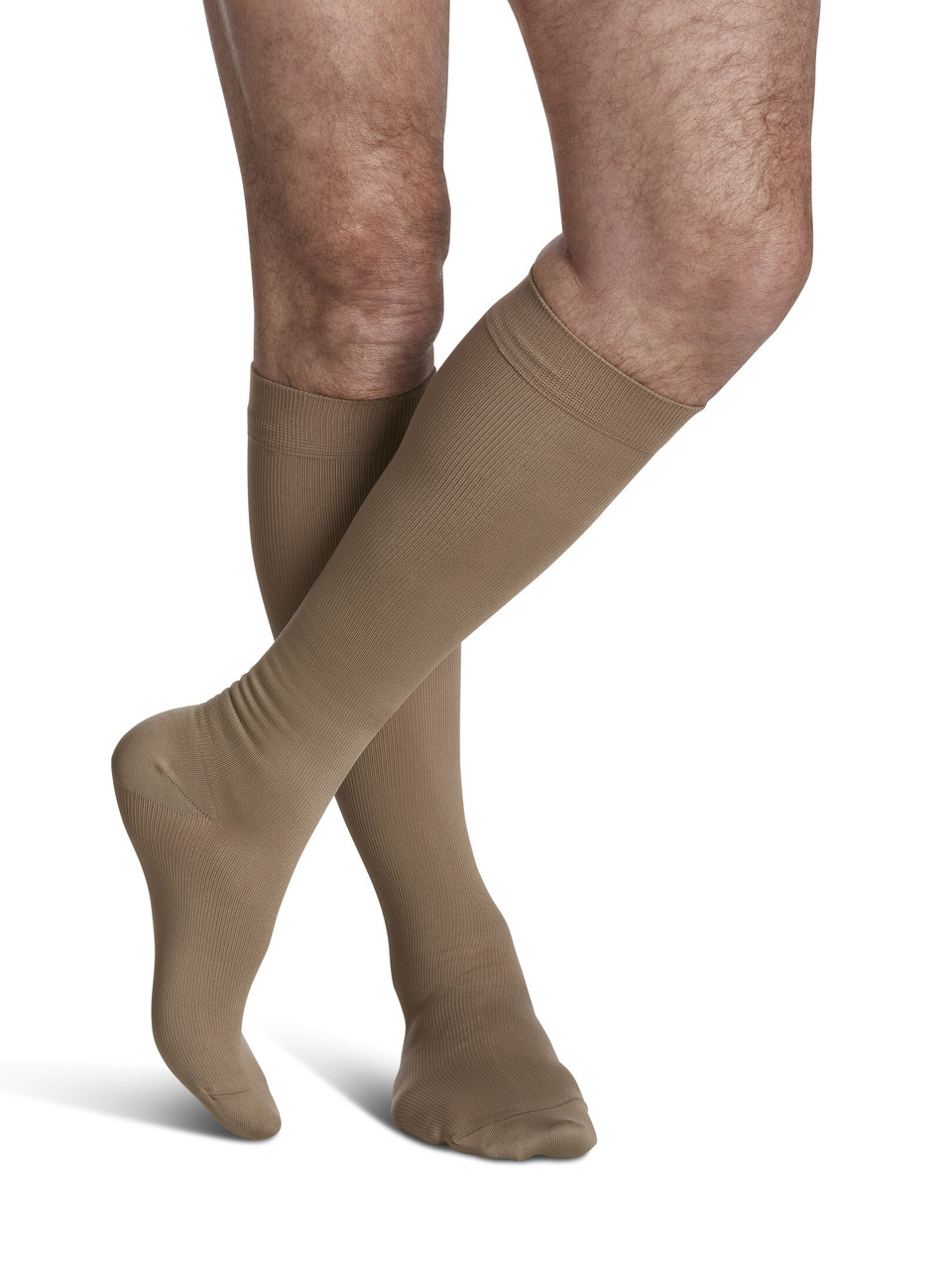 Microfiber Calf Compression Socks Khaki