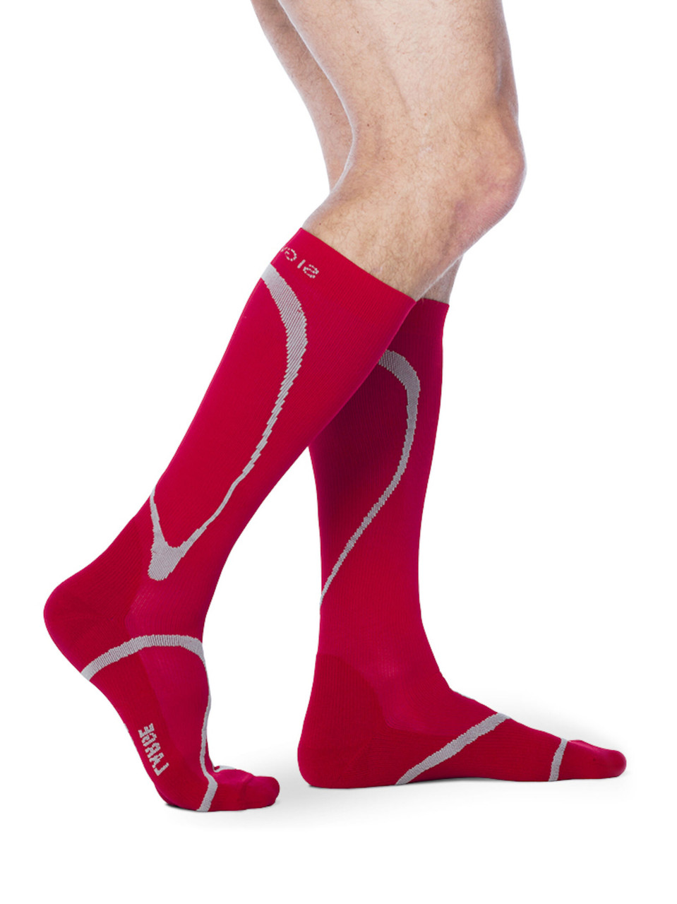 High Tech Athletic Compression Stocking Red