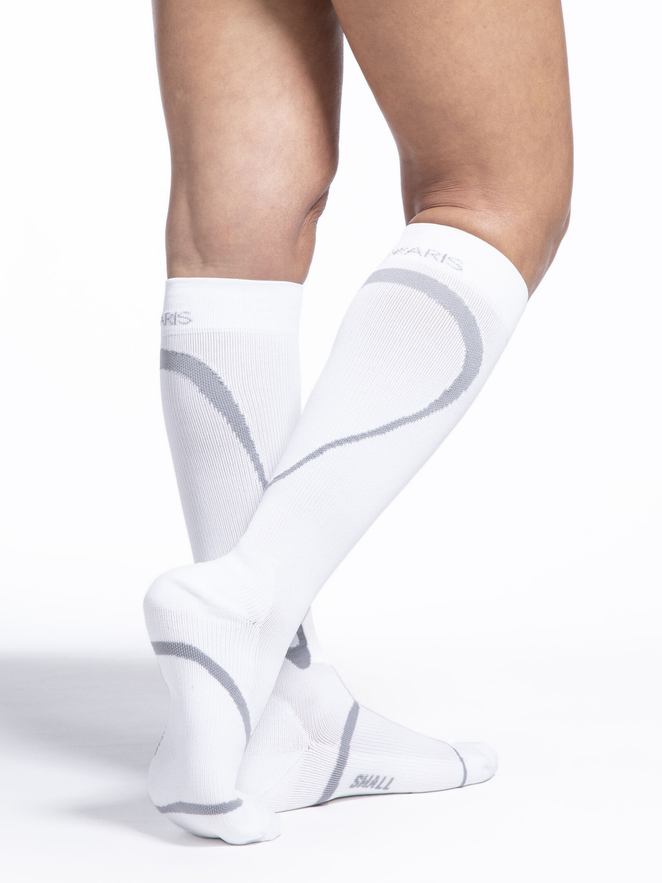 High Tech Athletic Compression Stocking White