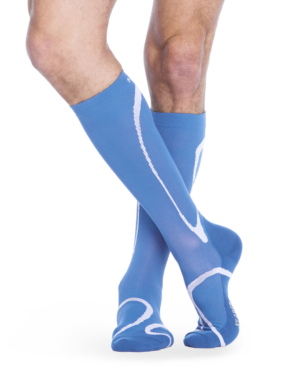 High Tech Athletic Compression Stocking  Steel Blue