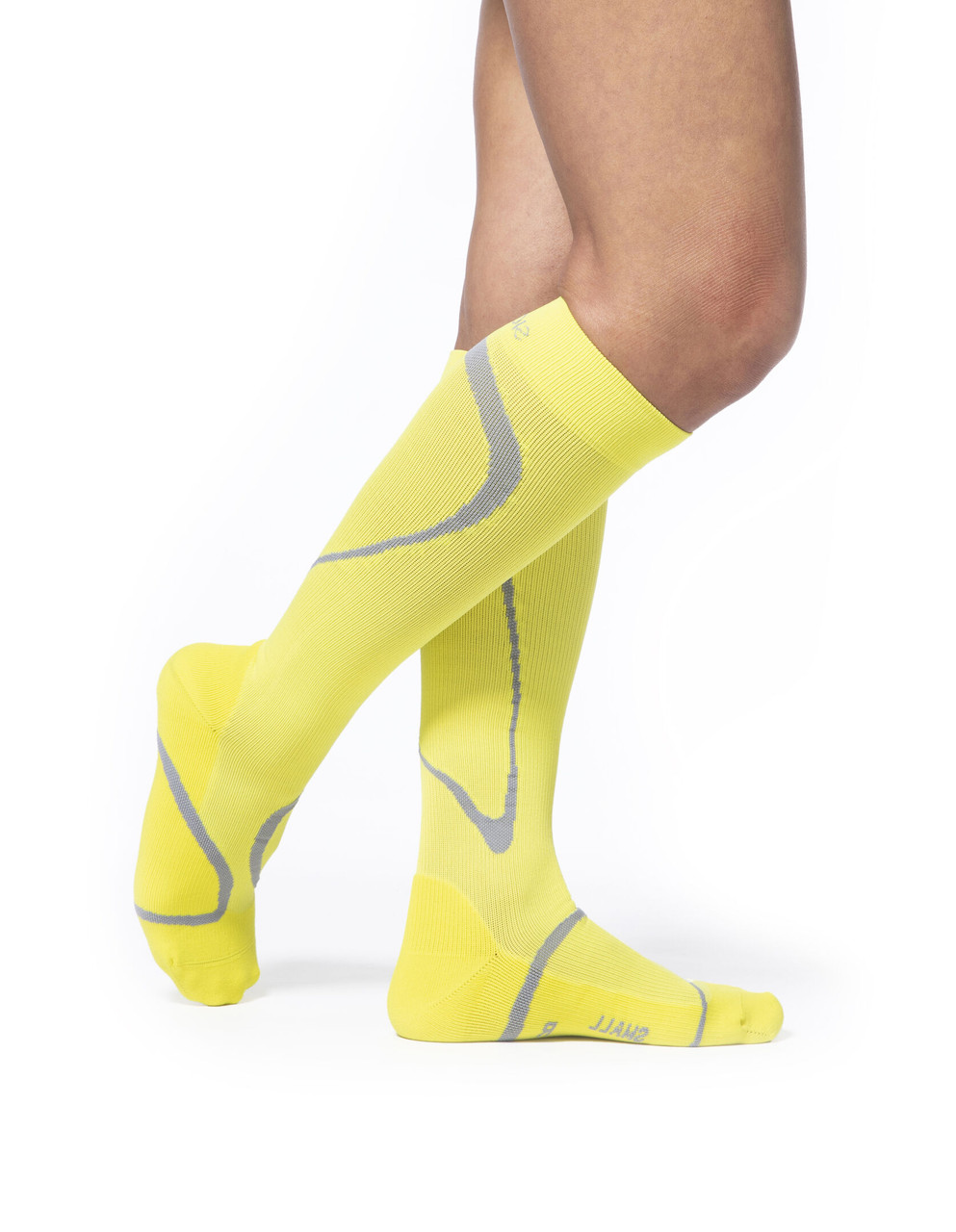High Tech Athletic Compression Stocking  Yellow