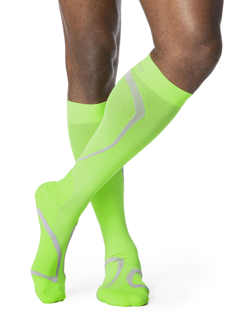 High Tech Athletic Compression Stocking Lime