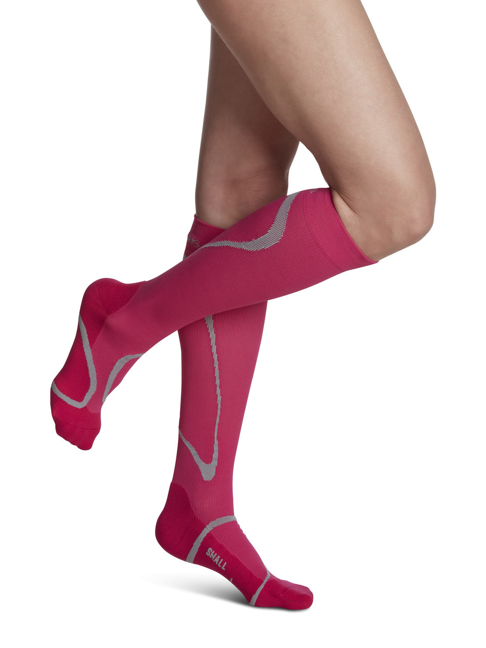 High Tech Athletic Compression Stocking Pink