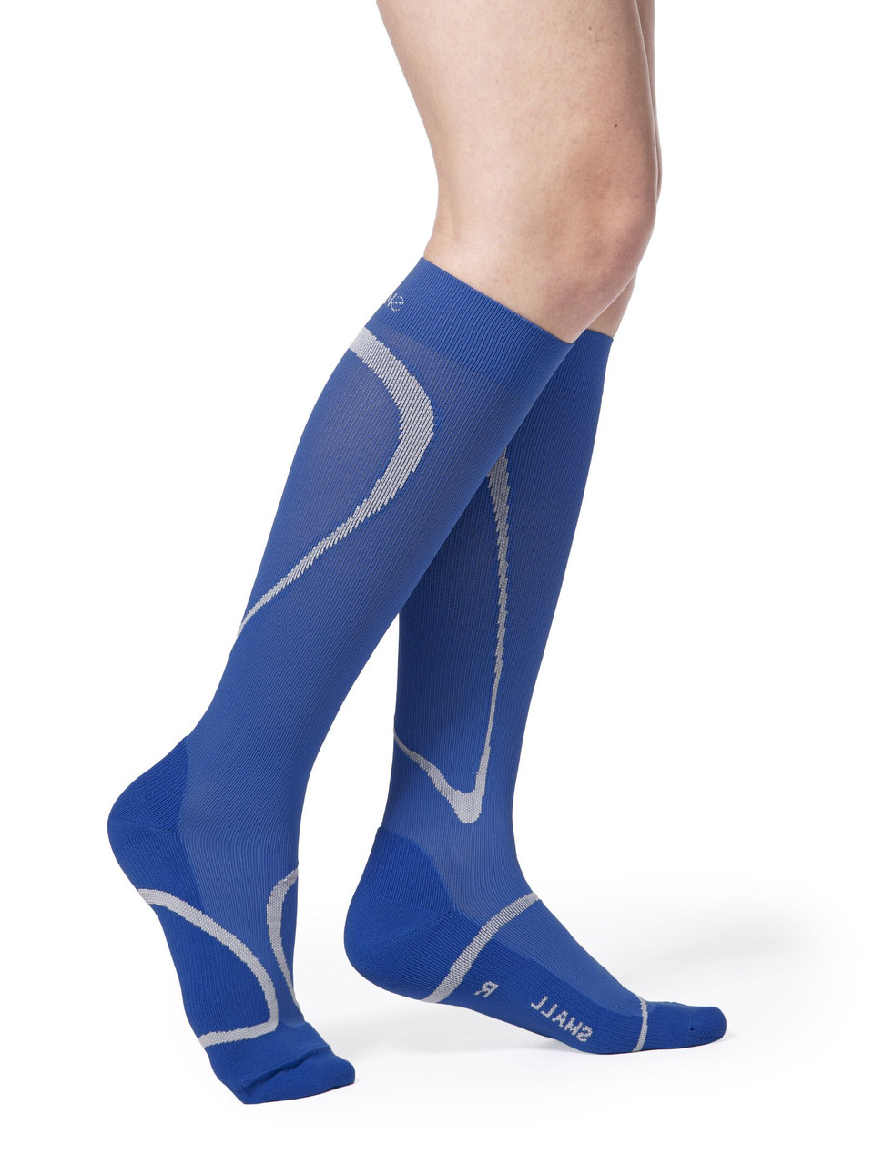 High Tech Athletic Compression Stocking Blue