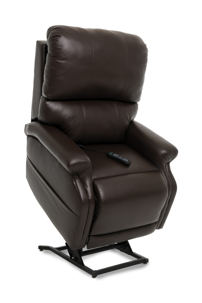 Escape Viva!Lift Lift Chair in Ultraleather Fudge, lifted