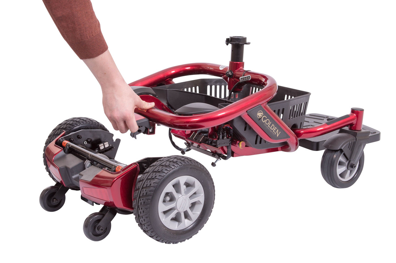 Disassemble Literider Envy Portable Power Wheelchair -  disconnect the base