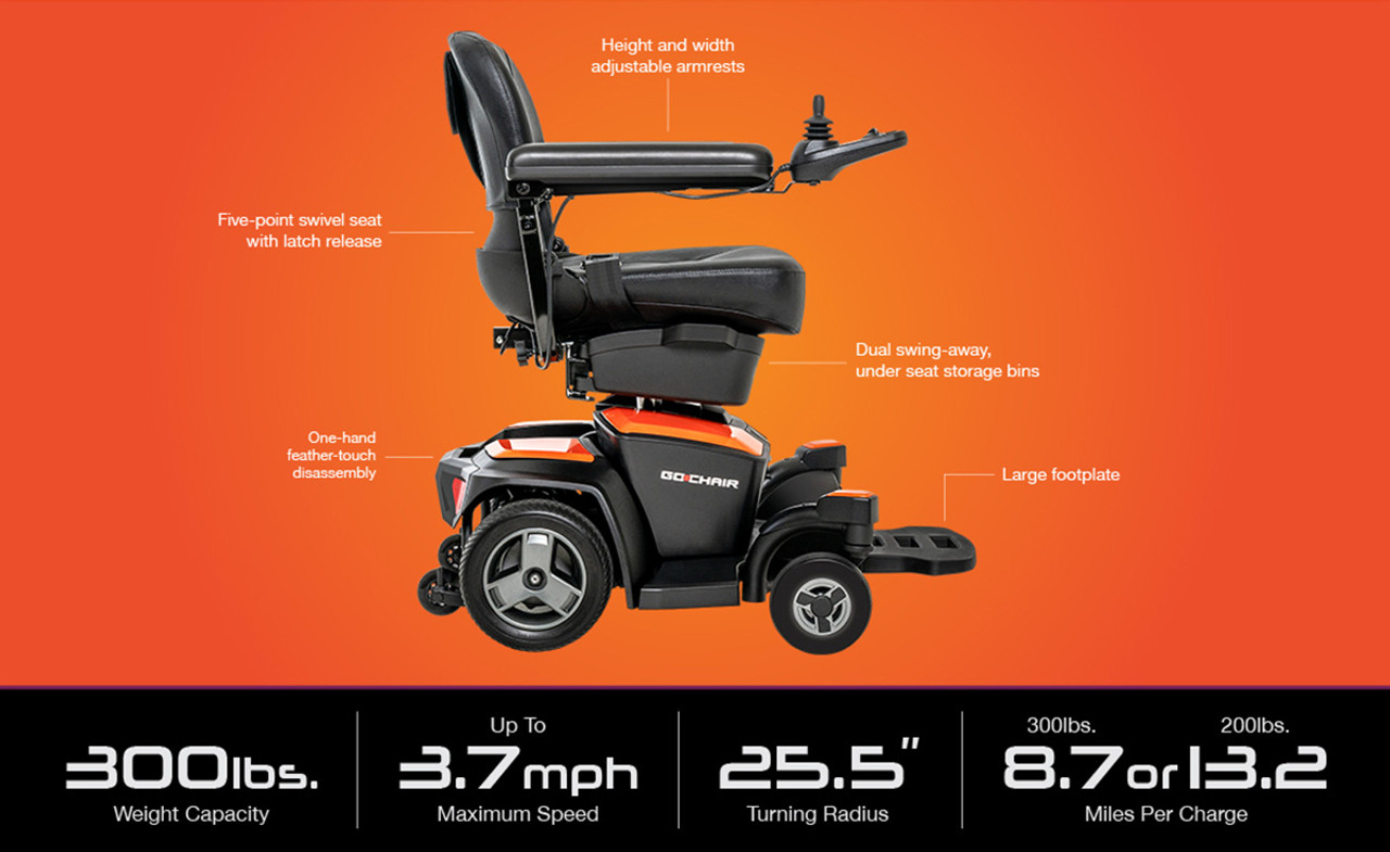 Pride Go Chair specifications