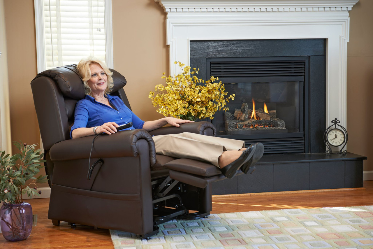 Relaxer Lift Chair Lounging with Straight Back
