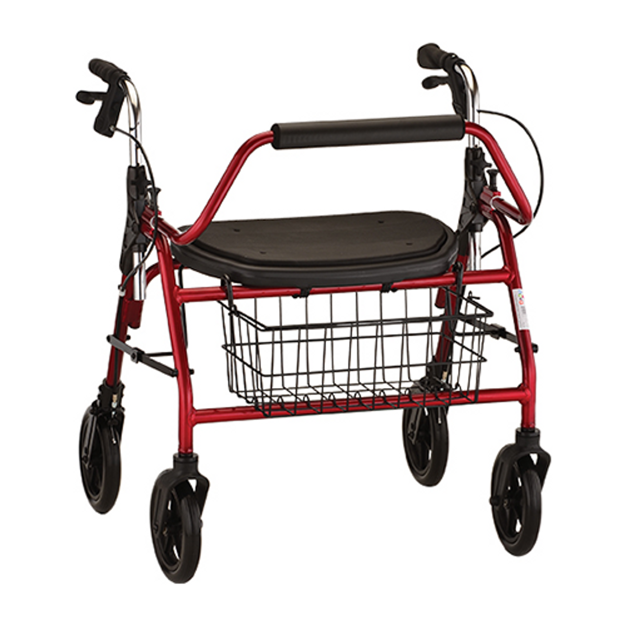 Mighty Mack Heavy Duty Rollator in Red