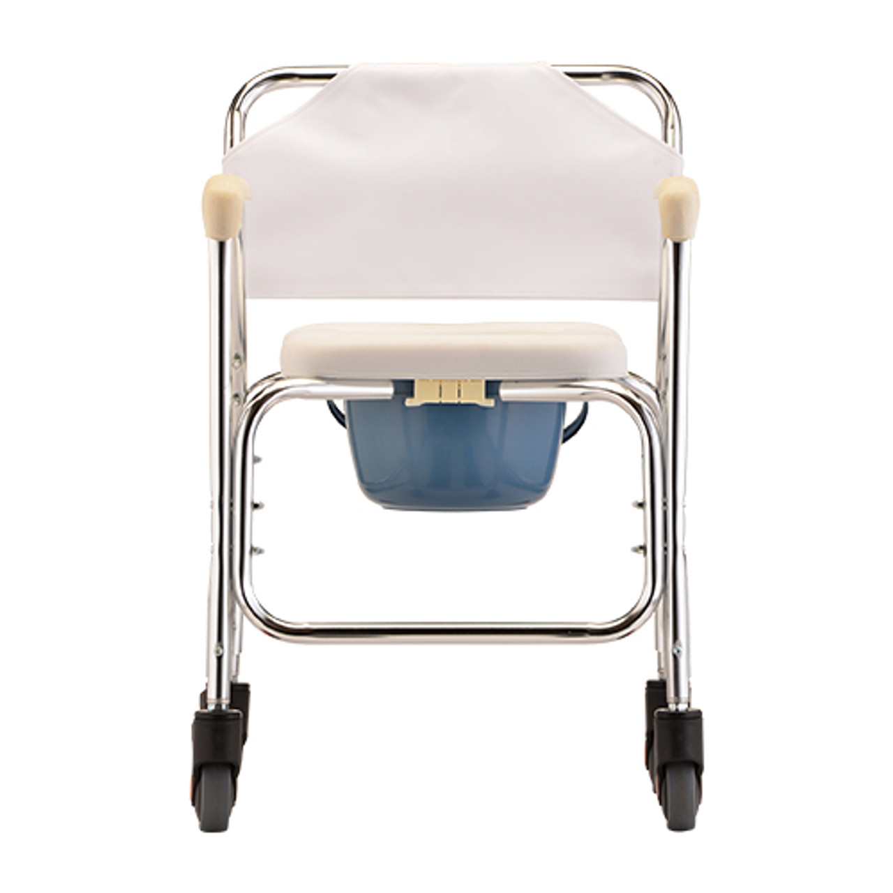 Rolling Shower Chair and Commode front view