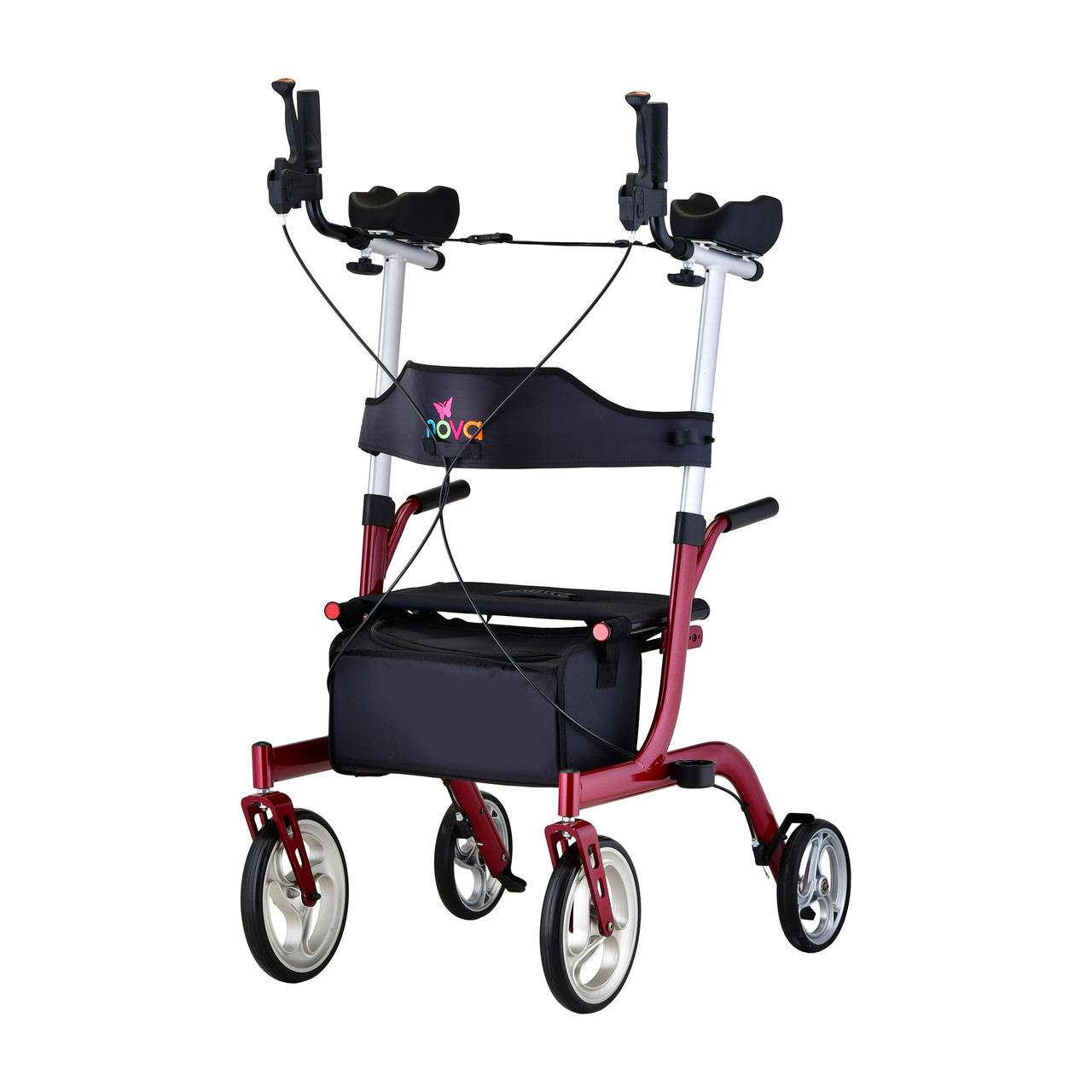 Phoenix Rise Up Rollator in Red