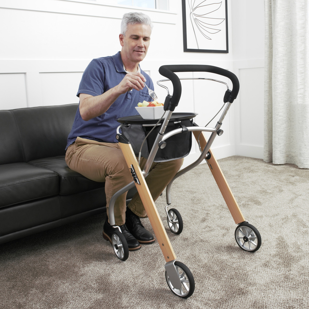 Let's Go Indoor Rollator perfect for transporting meals