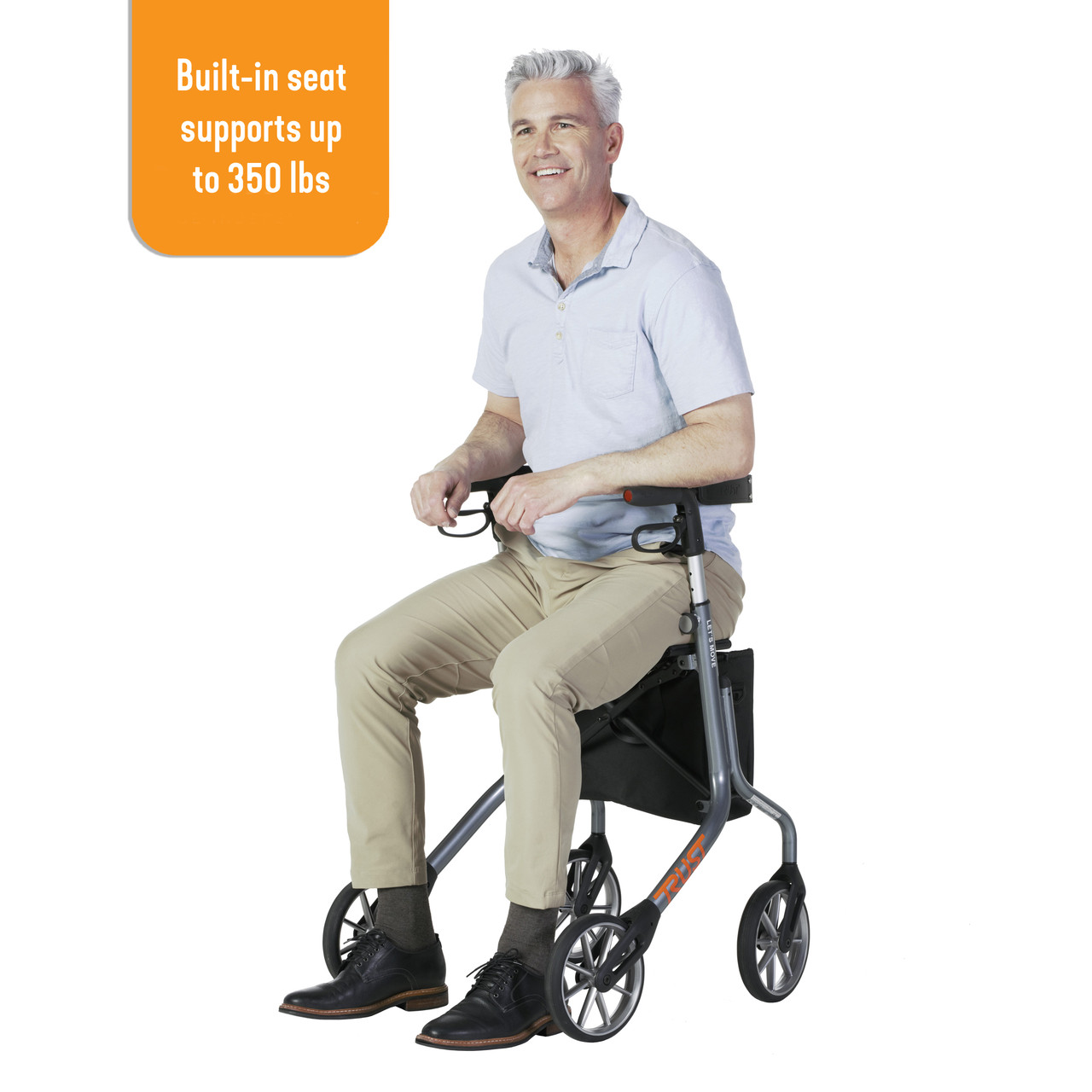 Let's Move Rollator with seat