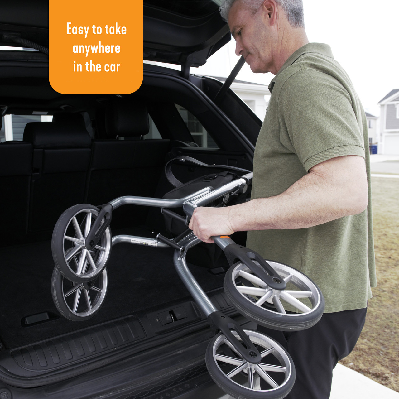 Let's Move Rollator  is lightweight, only 12.8 lbs!