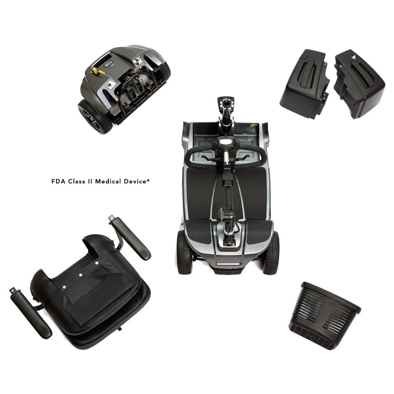 Revo 2.0 3-Wheel Scooter disassembled