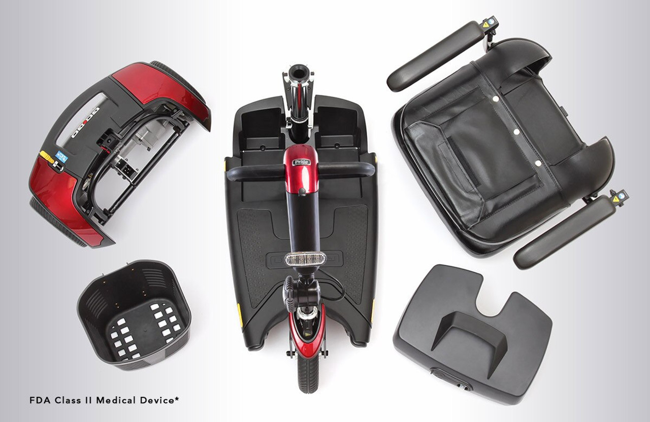 Pride Go-Go Sport  4-wheel scooter 5 pieces disassembled