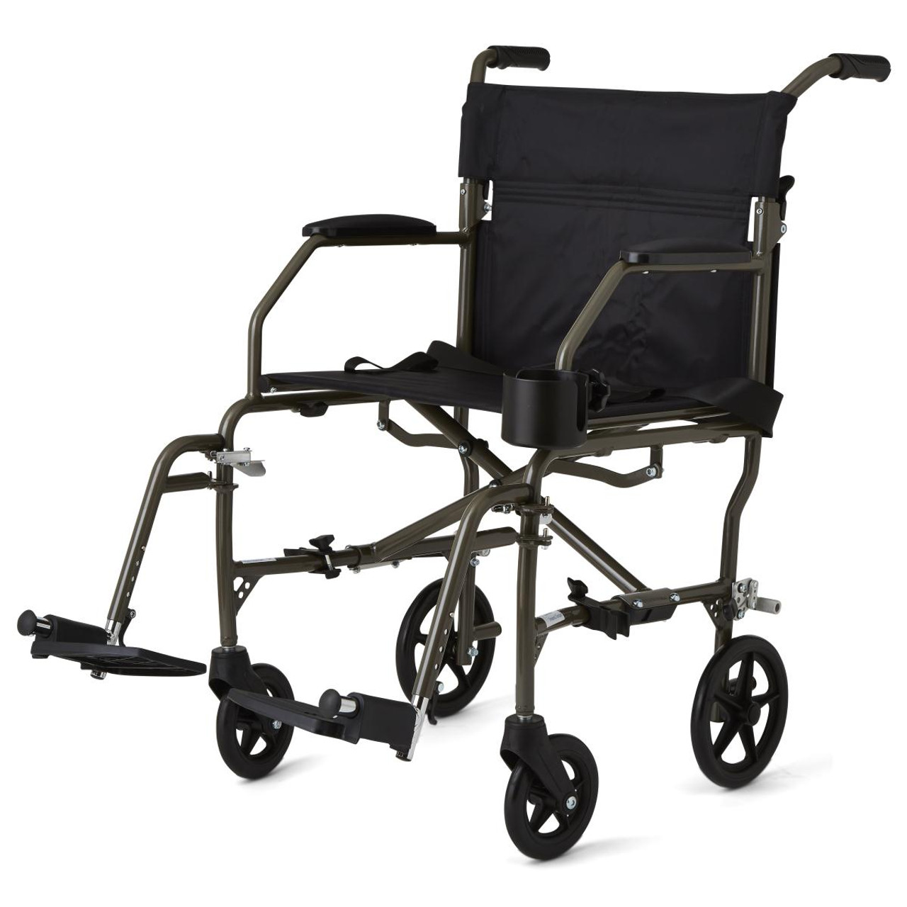 Medline Ultralight Transport Wheelchair Silver