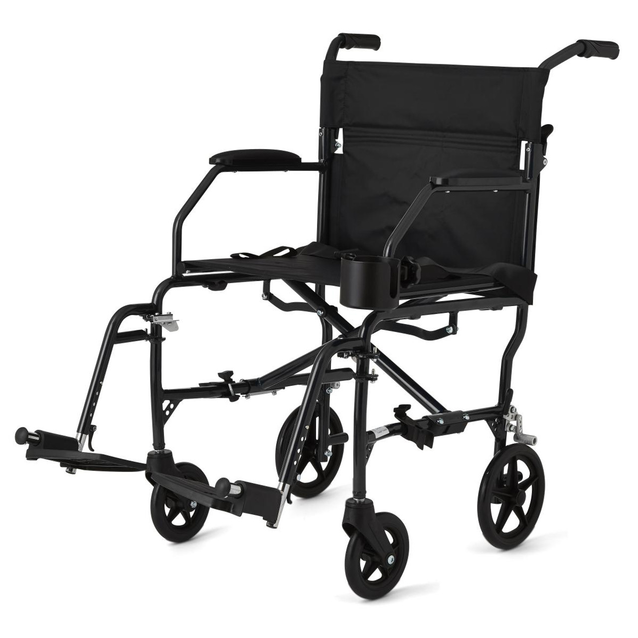 Medline Ultralight Transport Wheelchair black