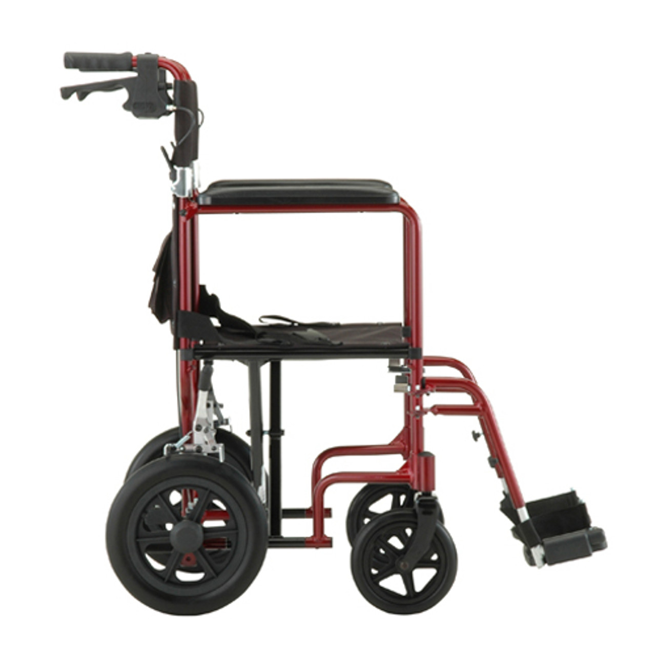 Nova Model 330 Transport Chair with hand brakes - Side profile