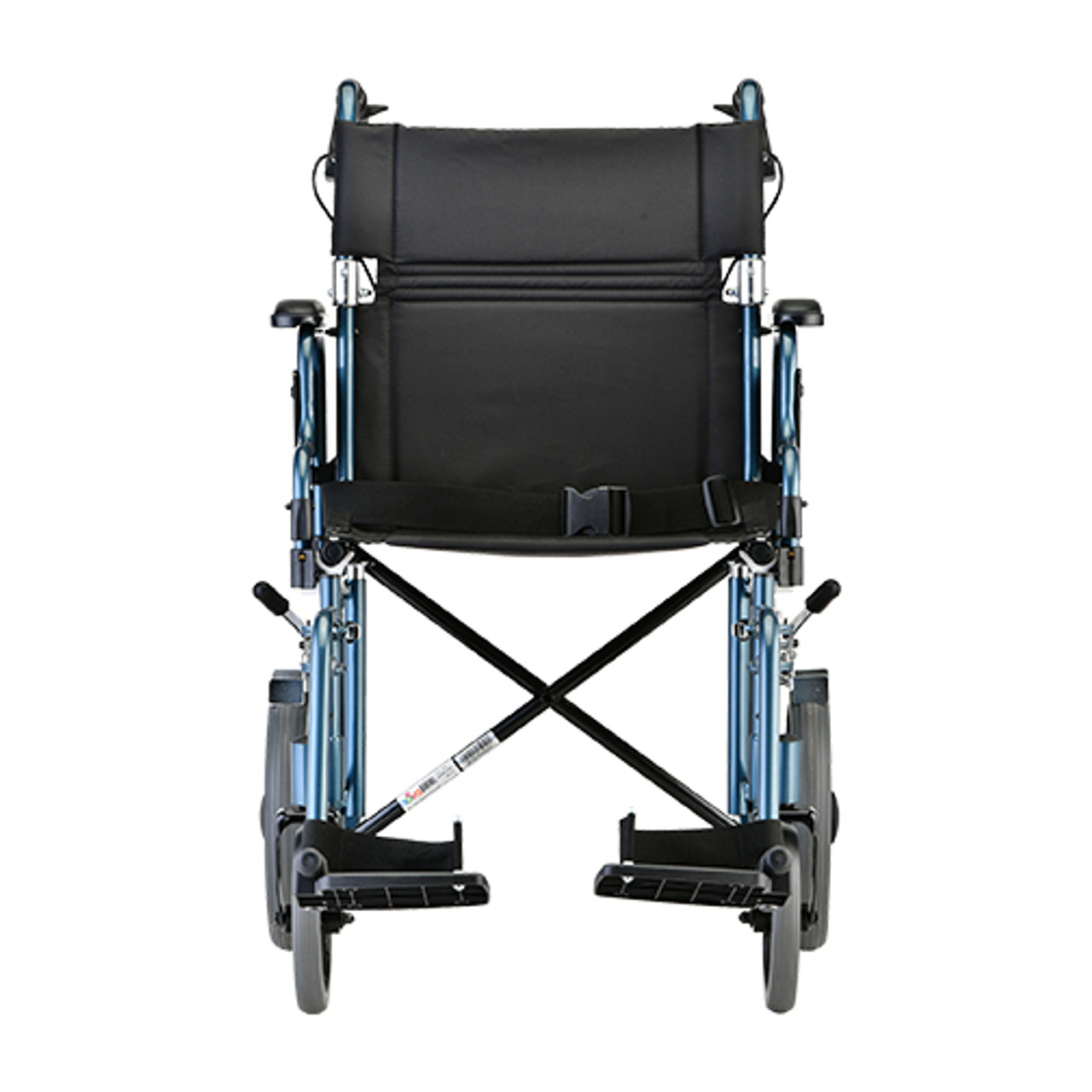 Nova model 352 19 inch transport chair with hand brakes front view