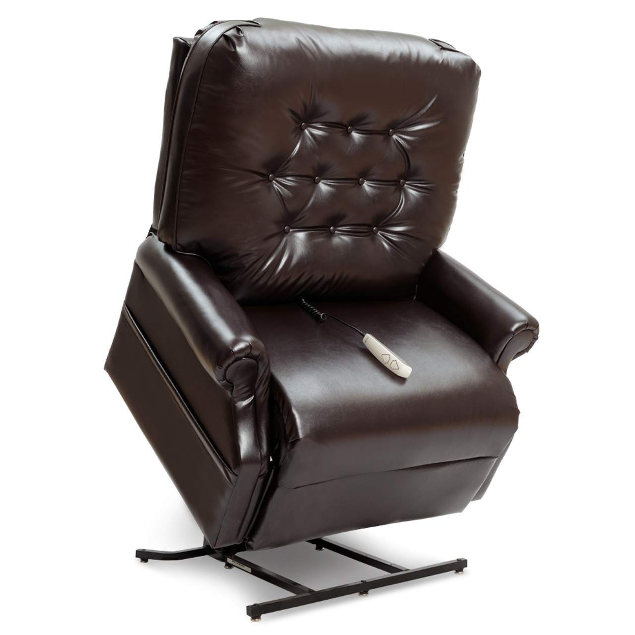 LC358XXL 2 Position Lift Chair Lifted, dark fabric