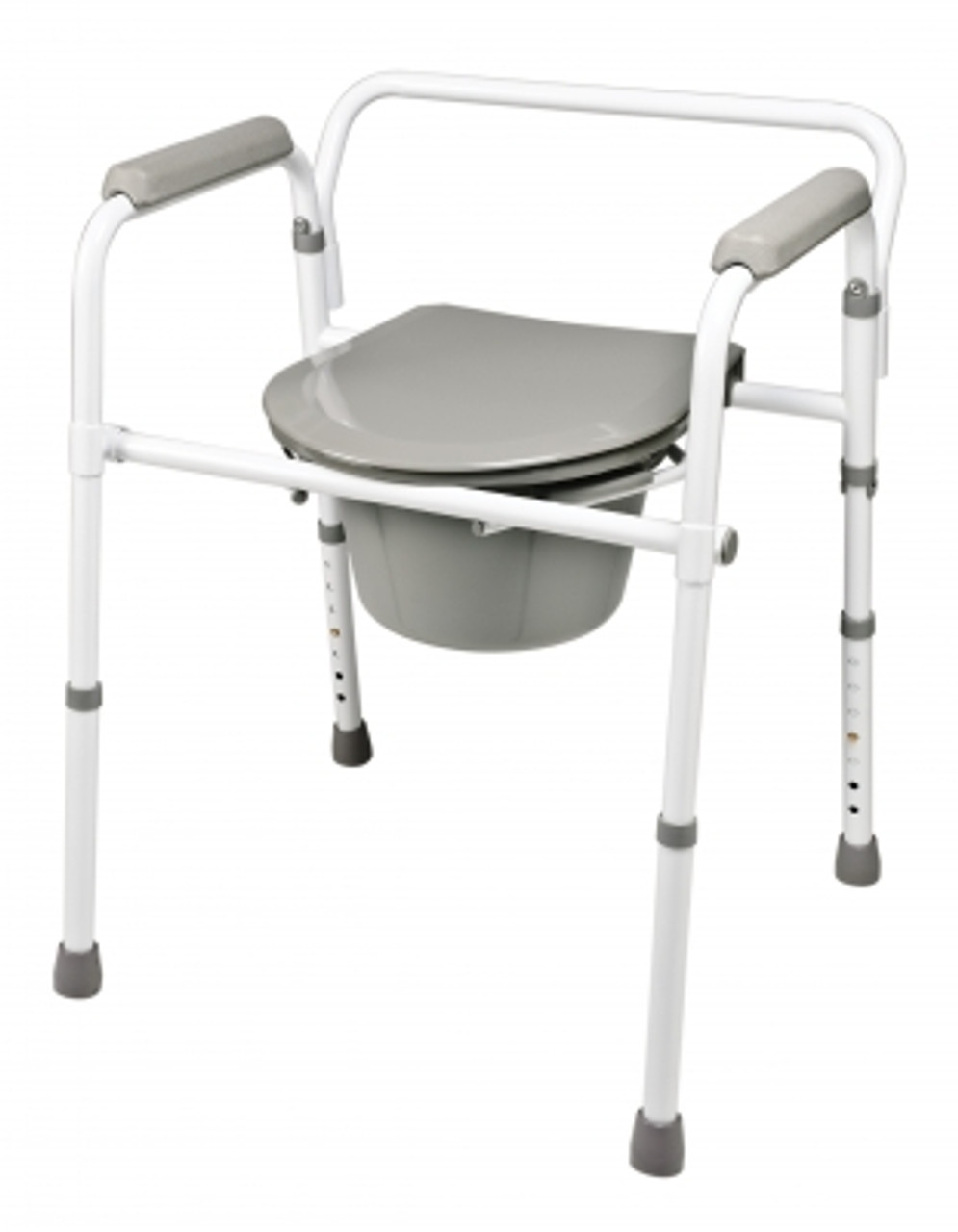 Steel folding commode closed