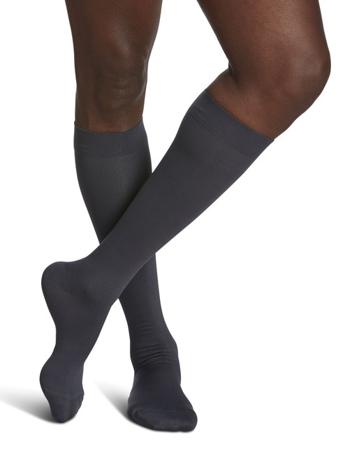 Microfiber Calf Compression Socks Grey