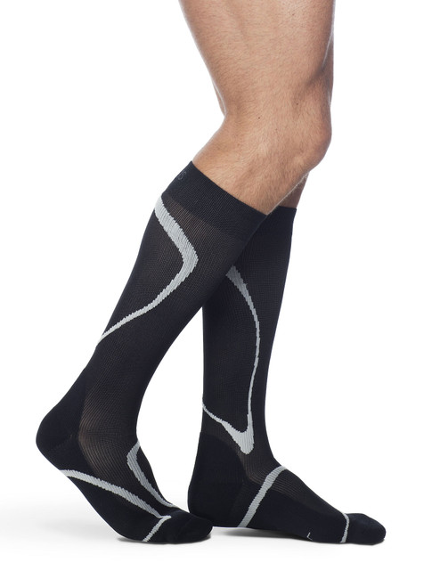 High Tech Athletic Compression Stocking Black