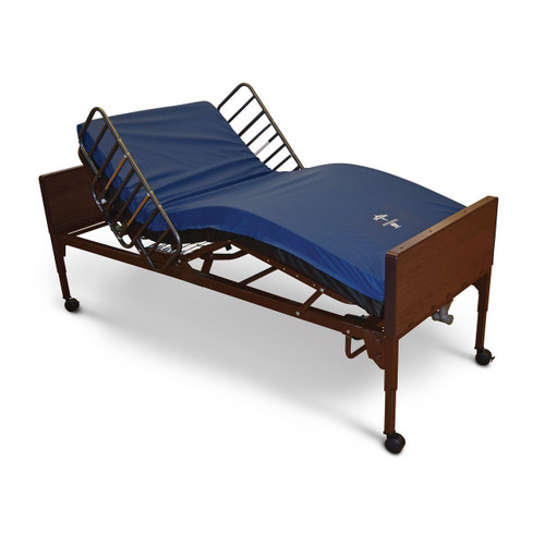 Medline Full Electric Hospital Bed with Half Rails and Mattress