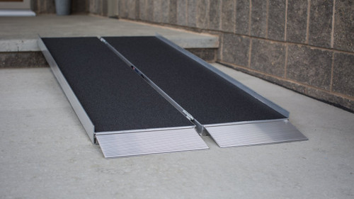 EZ-Access single fold ramp with skid resistant tape