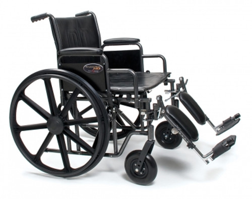 "Traveler Heavy Duty 22"" Wheelchair with elevating legrests"