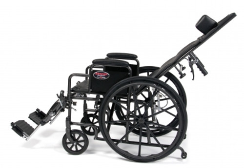 Advantage Reclining Wheelchair semi reclined