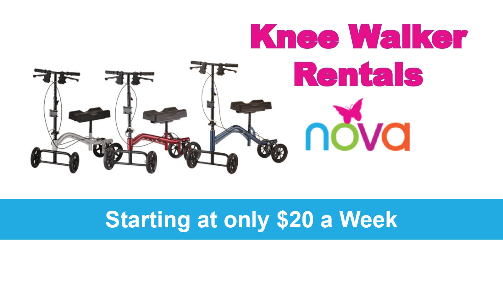 knee scooter rentals or knee walker rentals with the lowest prices in dallas