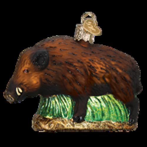Boar Glass Ornament