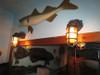 dual antiqued bronze passageway dock lights