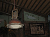 antiqued hanging cargo ship light