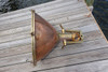 polished copper nautical ship light