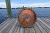 polished copper inside cargo nautical light