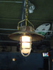 hanging hooded nautical brass light